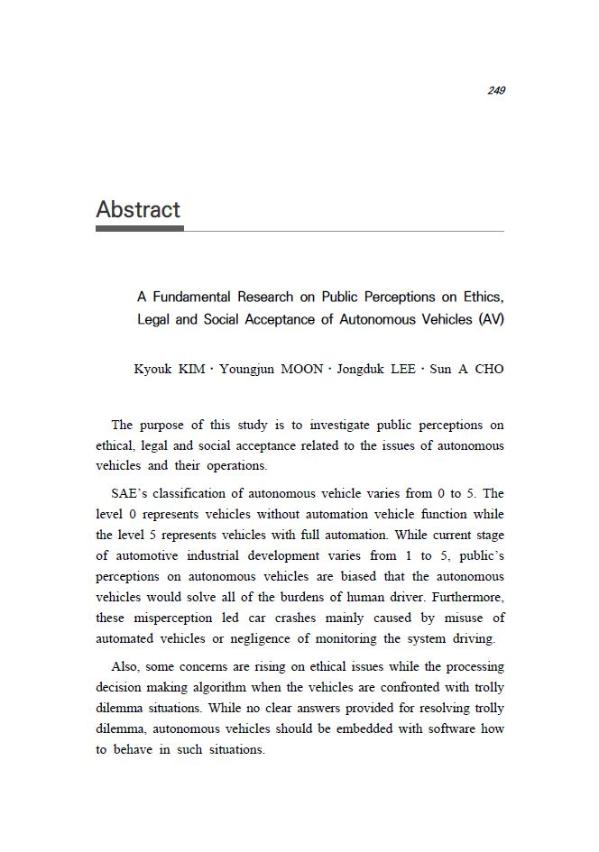 A Fundamental Research on Public Perceptions on Ethics, Legal, and Social Acceptance of Autonomous Vehicles (AV)